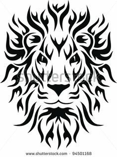 tribal lion face tattoo - Google Search