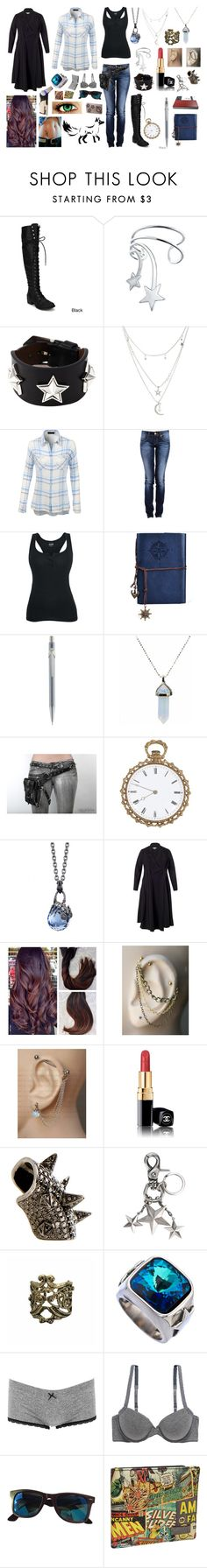 """Gravity falls RP:OC"" by evil-fangirl-overlord ❤ liked on Polyvore featuring Bling Jewelry, Givenchy, Charlotte Russe, LE3NO, Caran D'Ache, Stephen Webster, Chesca, Chanel, Pristine and Sophnet."