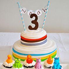 Brown Bear, Brown Bear Birthday Party  | Brown Bear Cake | MyRecipes.com