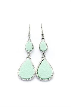 "Minty tear trop earrings, Oh my gosh I love these. Makes me think of ""I dream of Genie"""