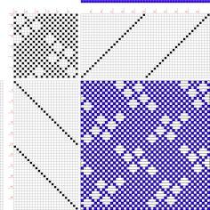 draft image: Figure 684, A Handbook of Weaves by G. H. Oelsner, 24S, 24T