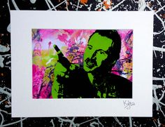Trainspotting - Begbie, signed pop art canvas print with cardboard mount. From an original painting by Kyle Maclennan (Headon Art) Available on Etsy  #trainspotting #art #headonart #popart