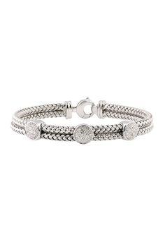 Effy Jewelry Balissima Sterling Silver Diamond Bracelet, .12 TCW