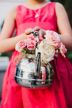 I JUST DIED. I LOVE LOVE LOVE THIS!  Flower Girl and Ring Bearer Ideas Wedding Inspiration Boards Photos on WeddingWire.