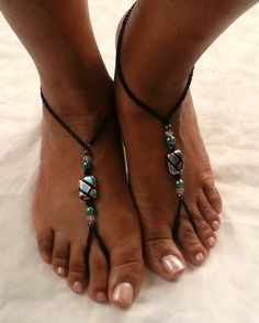 Barefoot Sandals Anklet Foot Jewelry by ZamydreDesigns on Etsy