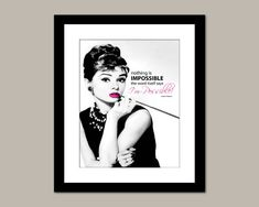 Nothing's Impossible Motivational Saying  Audrey by Benzarina