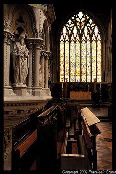Interior of St Mary's Church in Shrewsbury, England