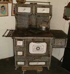Old granitware stove