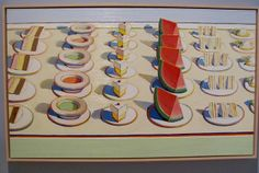 Wayne Thiebaud. After seeing the Art of Appetite at the Art Institute today, I gotta do a food lesson