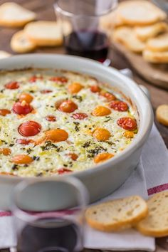 Forgo the usual spinach and artichoke dip this Super Bowl in favor of these three delicious recipes. Pizza Appetizers, Appetizer Recipes, Ricotta Dip, Baked Goat Cheese, Feta, Food C, Easy Cheese, Cooking Recipes, Cooking Time
