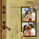 Wedding Scrapbook Layout Idea. Love the colors (Brown and creme)