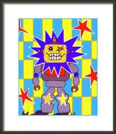 Starbot Robot Framed Print By Lynnda Rakos