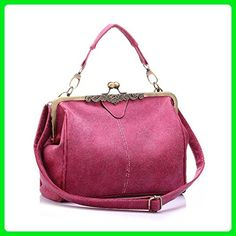 women shoulder bag - SODIAL(R)new retro women messenger bags small shoulder bag PU leather tote bag small clutch handbags£¨Rose Red£ - Totes (*Amazon Partner-Link)
