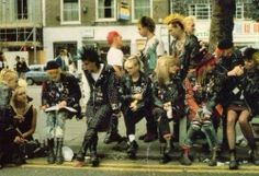 80s punks - oh how we must of seemed to the ordinary citizens......