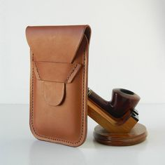 Vegetable Tanned Bridle Leather Cell Case by GillieLeather on Etsy