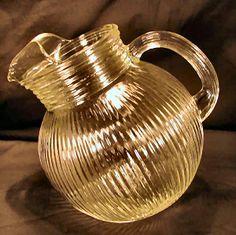 Pattern:   Homespun Depression Glass  Manufacturer:   Jeannette Glass Company