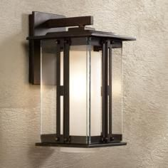 "Fallbrook Collection 11 3/4"" High Bronze Outdoor Wall Light"