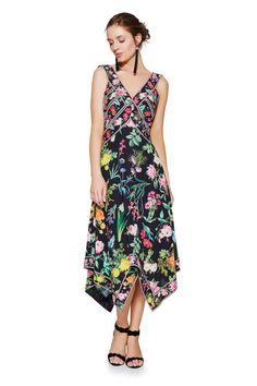 5da9d3de798e Marcelle Handkerchief Dress. Handkerchief DressTea Length DressesTadashi  ShojiPlunging ...