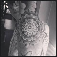 Dotwork tattoo mandala sleeve