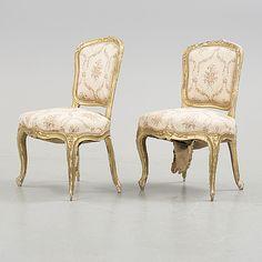 STOLAR, ett par, Louis XVI-stil, 1800-tal.