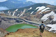 Daniel Telsey spent 3 months interning in Japan with Samaritan's Purse. He was part of a mostly Japanese construction team that rebuilds homes that were destroyed by the tsunami last year. This picture was taken on a weekend hiking trip to the Zao Mountain Range at Okama Crater Lake.