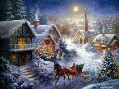 Hintergrundbild von Weihnachtsdorf