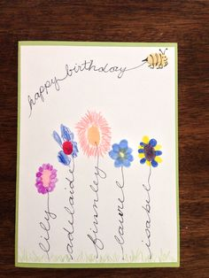 Handprint Birthday Card perfect for grandparents aunts uncles