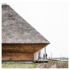 Wadden Sea Centre by Dorte MandrupResearch, Architecture, Interiors Photography: ©Rasmus Hjortshøj Around years ago, the end of the. Roof Architecture, Contemporary Architecture, Architecture Details, Architectural Materials, Architectural Section, Thatched Roof, Natural Scenery, Interior Photography, Keep The Lights On