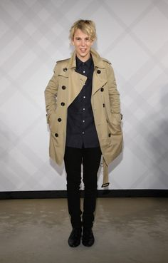 Tom Odell Photos Photos - In this photo provided by Burberry, Tom Odell wearing…