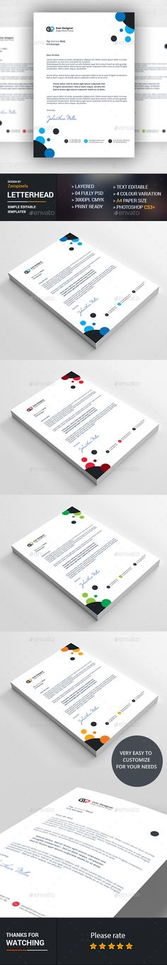 Letterhead Template Eps Indd Psd  Ms Word Us Letter Size