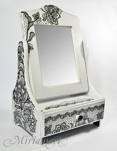 A large dressing table casket with collection Black by Miriammart Home Decor Items similar to Gift for her, Gift for mom gothic gift, gothic home decor, gothic box - A large dressing table, viktorian casket with collection Black Lace on Etsy Home Decor Styles, Home Decor Items, Diy Home Decor, Hippie Home Decor, Gothic Home Decor, Hanging Drywall, Home Design Magazines, Decoupage Box, Snowman