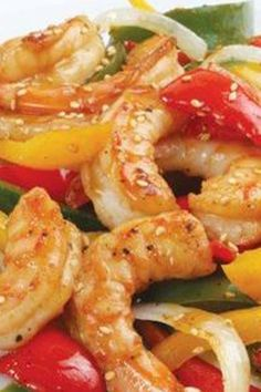 Stir up some taste. Florida Gulf shrimp & sweet pepper stir-fry. Big on the delicious scale, easy to prepare.