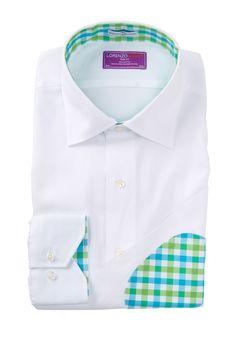 Lorenzo Uomo Elbow Patch Trim Fit Dress Shirt by Lorenzo Uomo on @nordstrom_rack