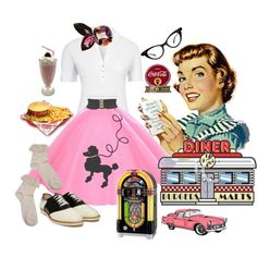 50's Diner, created by tracireuer on Polyvore