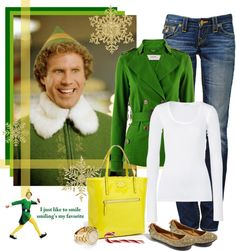 27 Trendy how to wear green jacket christmas gifts Movie Inspired Outfits, Elf Clothes, Girl Outfits, Cute Outfits, Buddy The Elf, New Year Gifts, Christmas Fashion, Green Jacket, Ugly Sweater