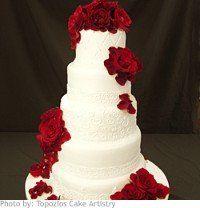 Wedding, Cake, Red