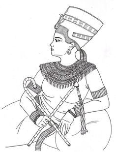 Queen Nefertiti Coloring Page Coloring Books Coloring Pages