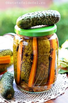 Pickles, Cucumber, Good Food, Jar, Canning, Travel, Preserves, Romanian Food, Salads