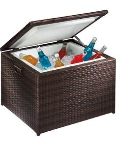 Presidio Patio Wicker Cooler