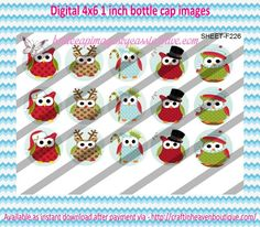 """1"""" Bottle Caps (4X6) F226 Christmas/ holiday mix #21 Christmas bottle cap images #Christmas #xmas #bottlecap #BCI #shrinkydinkimages #bowcenters #hairbows #bowmaking #ironon #printables #printyourself #digitaltransfer #doityourself #transfer #ribbongraphics #ribbon #shirtprint #tshirt #digitalart #diy #digital #graphicdesign please purchase via link  http://craftinheavenboutique.com/index.php?main_page=index&cPath=323_533_42_56"""