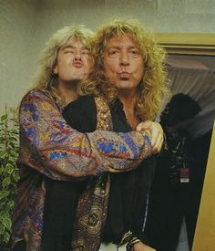 Joe Elliott & Robert Plant