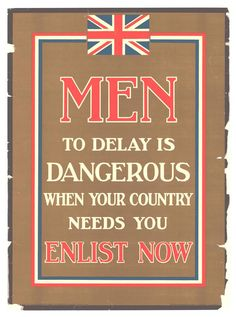 recruitment posters World War 1 - Google-søgning