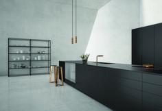 Luksusowa czarna kuchnia i złote dodatki https://www.homify.pl/katalogi-inspiracji/9186/trendy-czern-w-kuchni