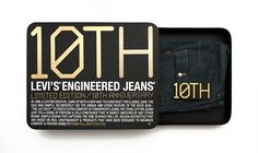 Levi's 10th anniversary jeans packaging