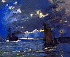 Claude Monet, «A Seascape, Shipping by Moonlight»