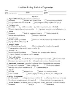Printables Depression Worksheets happy head to and depression on pinterest the hamilton rating scale for ham d is a great tool for