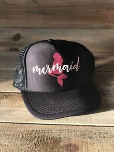Mermaid Trucker Hat Black