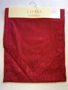 """Ralph Lauren NWT Table Runner Paisley Dressage Red 15"""" x 72"""" Holiday Christmas #RalphLauren"""