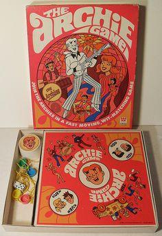 The Archie Game 1960s Vintage Whitman Toy, via Flickr.i didn't have the game but I had a lot of the Archie comic books Vintage Comics, Vintage Toys, Vintage Posters, Old Board Games, Vintage Board Games, Archie Comic Books, Archie Comics, Marvel Comics, 1960s Toys