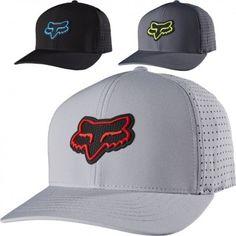 f3877116414 Fox Racing Wallace Mens Caps Motocross Off Road Flexfit Hats Fox Brand